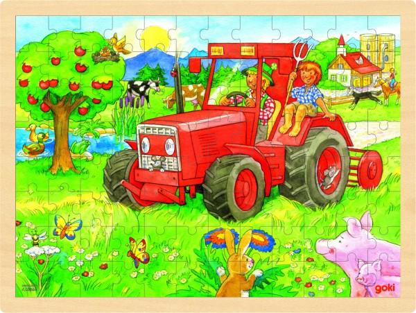 Einlegepuzzle Traktor