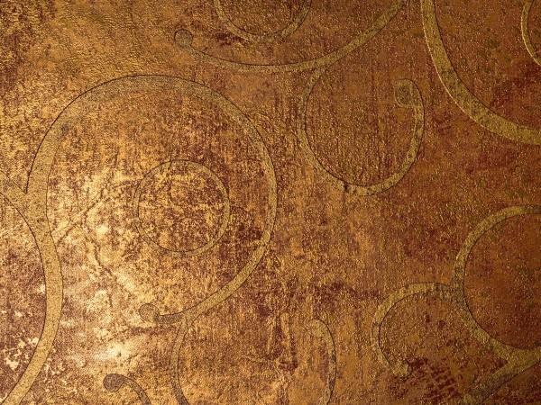 Marburg La Veneziana Vliestapete, # 77724 , BAROCK gold rost , 10,05m x 0,53m, Laufzeit bis 12 / 20