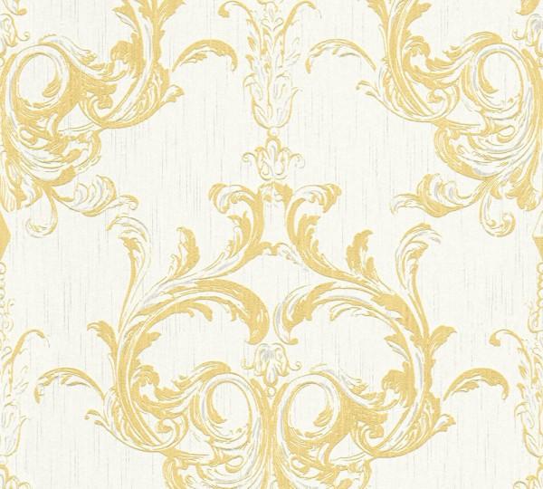 A.S. Création, Tessuto 2, # 961965, Vliestapete, Gelb Weiß