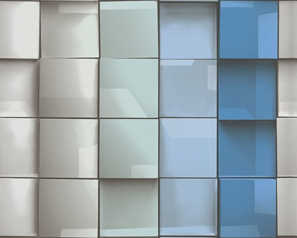 A.S. Création Tapete - Move Your Wall, Vliestapete, # 960201, 3D Optik, geometrisc, grafisch, blau g