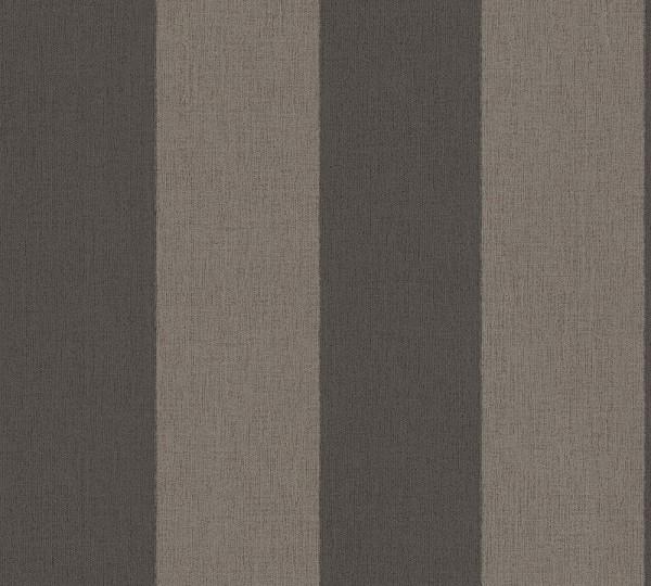 A.S. Création, Borneo, # 327181, Vliestapete, Streifen, Braun Schwarz