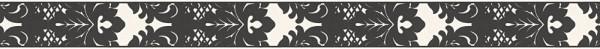 A.S. Création, Only Borders 10, # 962141, Borte aus Papier, Schwarz Weiß, 5,00 m x 0,05 m