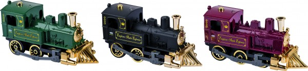 Klassische Lokomotive, Spritzguss, L= 14 cm