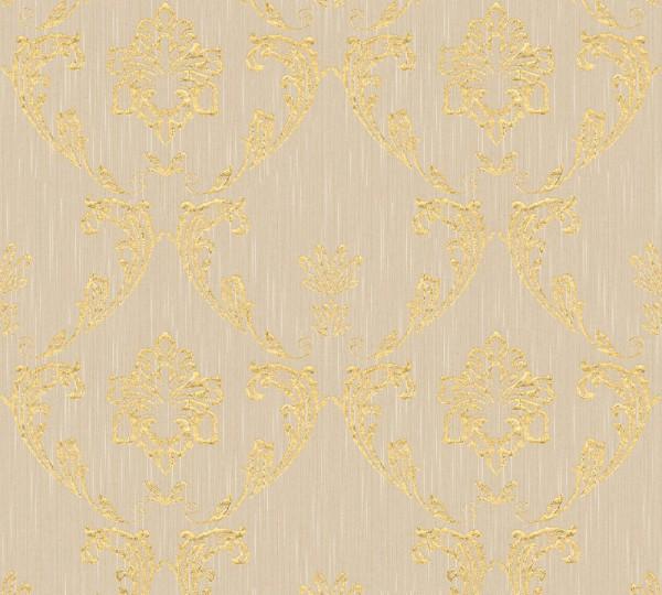 A.S. Création, Metallic Silk, # 306582, Vliestapete Beige Metallic