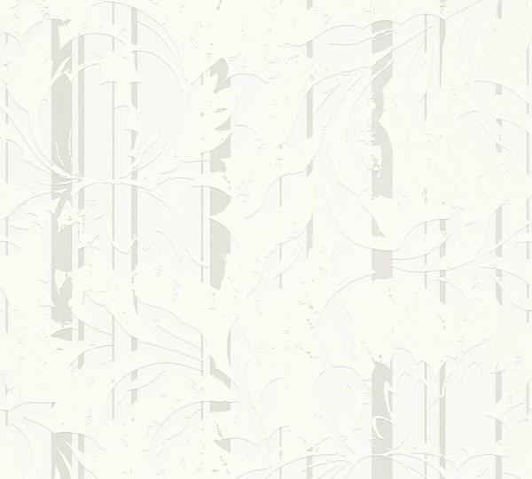A.S. Création, New Look, # 327901, Vliestapete, Creme Metallic Weiß