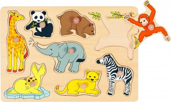 Steckpuzzle Tierkinder