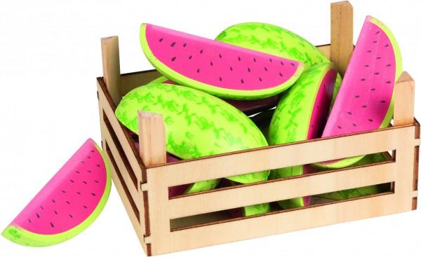 Melonen in Obstkiste
