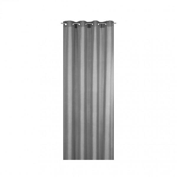 Elbersdrucke - Ösenschal - FD Lino 07 - grau - blickdicht - # 187033