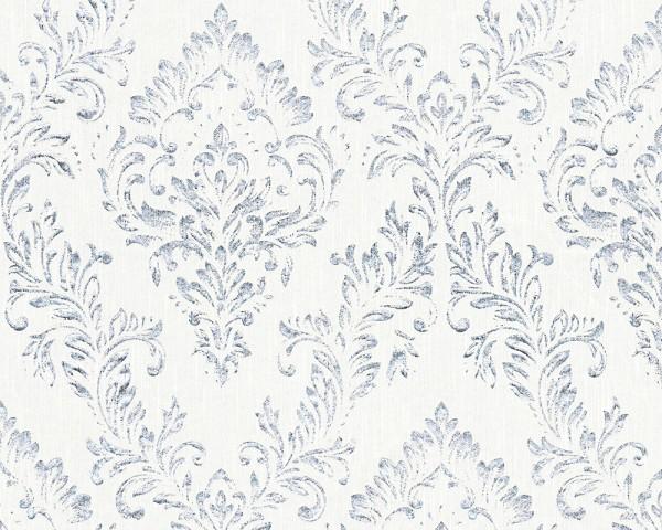 A.S. Création, Metallic Silk, # 306591, Vliestapete, Weiß Metallic