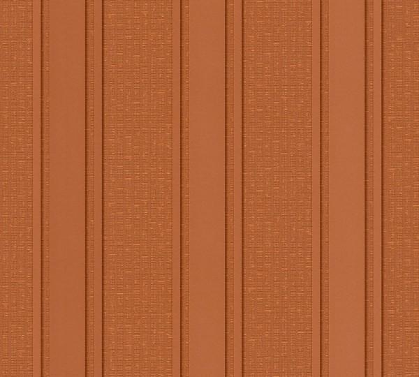 A.S. Création, Versace 2, # 962372, Vliestapete, Streifen, Braun Metallic Orange, 10,05 m x 0,70 m