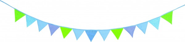 Wimpelkette blau-grün
