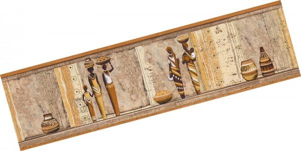 A.S. Création , selbstklebende Borte, Stick Ups # 898913, Afrika, 5,00m x 0,17m