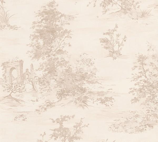 A.S. Création, Romantica 3,# 304291, Vliestapete, Beige Creme Rosa