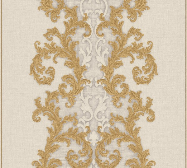 A.S. Création, Versace 2, # 962324, Vliestapete, Grau Metallic Weiß, 10,05 m x 0,70 m