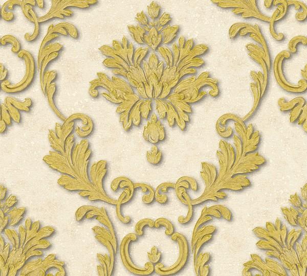 A.S. Création, Luxury wallpaper, # 324223, Vliestapete, Creme Metallic