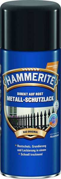 AKZO NOBEL , HAMMERITE Metall-Schutzlack glänzend Schwarz 400 ml