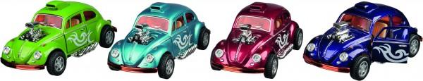 Volkswagen Beetle Custom Dragracer, Spritzguss, 1:32, L= 13 cm