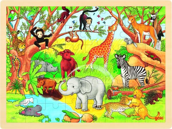Einlegepuzzle Afrika