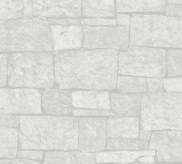 A.S. Création, Best of Wood`n Stone 2nd Edition, # 319941, Vliestapete, Steinoptik, Creme Grau