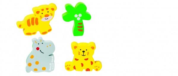 GOKI - Einlegepuzzle Wilde Tiere