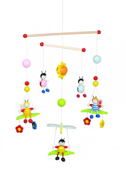 3-D Mobile Bienen und Käfer
