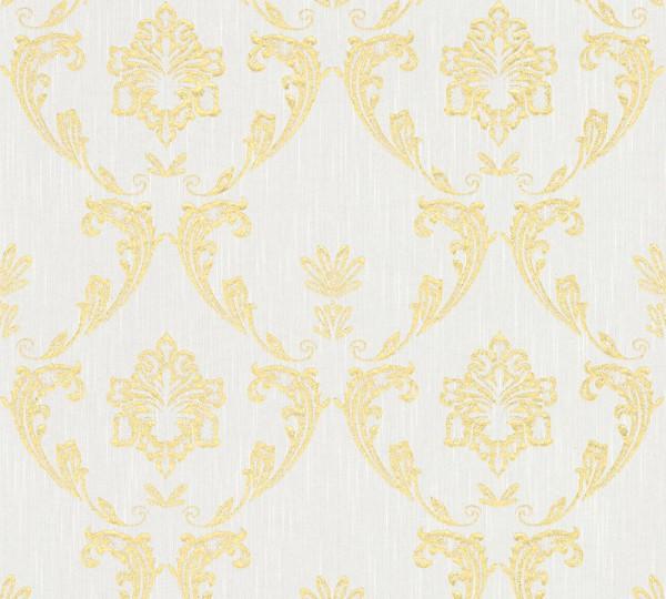 A.S. Création, Metallic Silk, # 306581, Vliestapete, Weiß Metallic