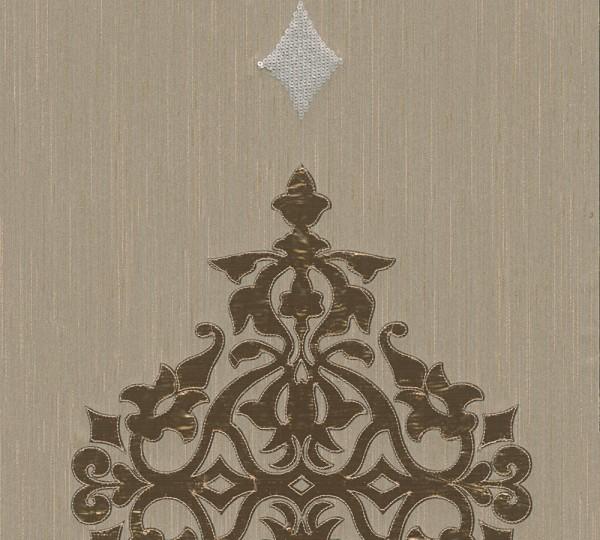 A.S. Création, Wall Fashion, # 306174, Vliestapete, Creme Metallic, 3,20 m x 0,53 m