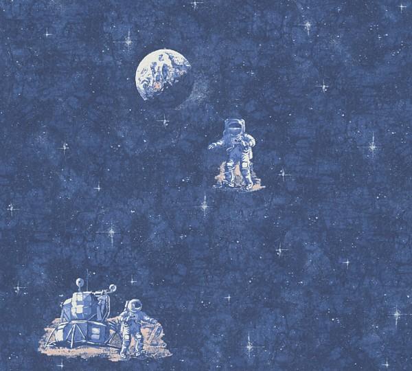 A.S. Création, Boys & Girls 6, # 304891, Kindertapete aus Papier, Blau