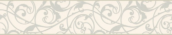 A.S. Création, Only Borders 10, # 962081, Borte aus Papier, Grün Metallic Weiß, 5,00 m x 0,13 m