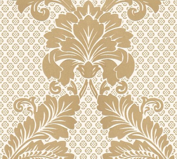 A.S. Création, Luxury wallpaper, # 305442, Vliestapete, Creme Metallic