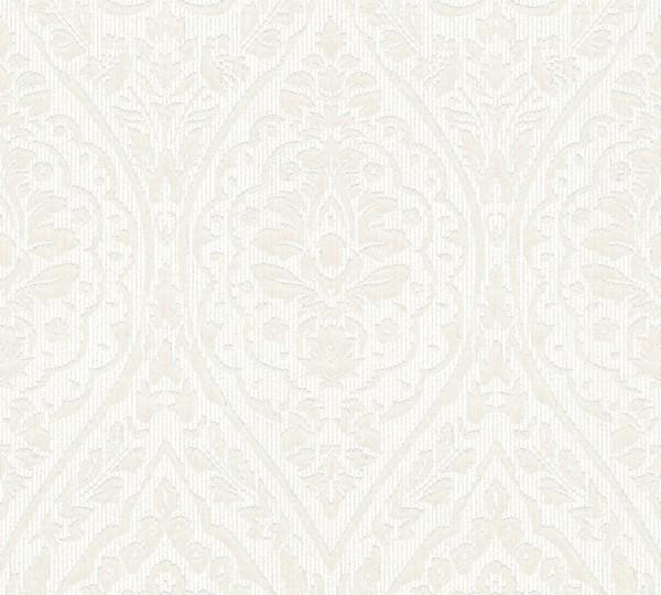 A.S. Création, Tessuto 2, # 961954, Vliestapete, Creme Weiß
