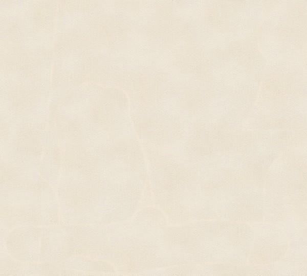 A.S. Création, Nobile, # 958933, Vliestapete, Creme Metallic Weiß, 10,05 m x 0,70 m