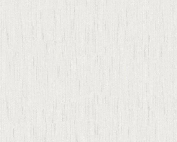 A.S. Création, Metallic Silk, # 968616, Vliestapete, uni, Weiß