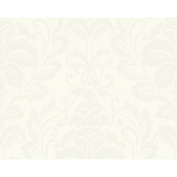 A.S. Création Tapete - Black&White 4, # 255440, floral, metallic, geprägt, weiß, beige 10,05m x 0,53