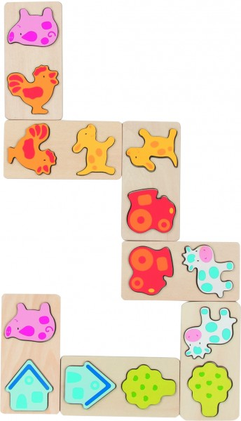 3D Dominospiel Bauernhof