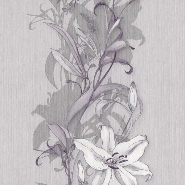 P+S Tapete 42086-30 Sinfonia, Florale Muster, rosa violett, scheuerbeständig, gute Lichtbeständigkei