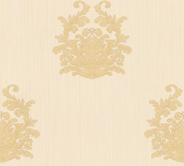 A.S. Création, Nobile, # 958614, Vliestapete, Creme Metallic, 10,05 m x 0,70 m