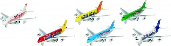 Flugzeuge mit Licht und Geräusch, Spritzguss, L= 19 cm