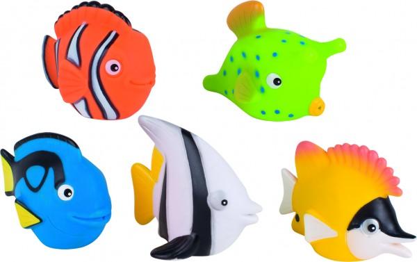 Wasserspritztiere, Fische