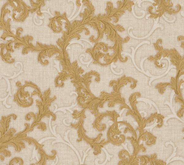 A.S. Création, Versace 2, # 962313, Vliestapete, Beige Creme Metallic, 10,05 m x 0,70 m