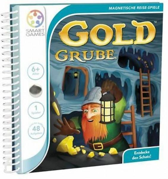 SMART GAMES - Gold Grube, Magnetisches Buchspiel, Reisespiel, ab 7 Jahren, 1 Spieler