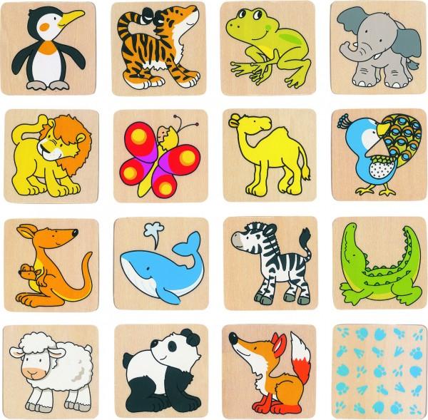 Memospiel Tiere