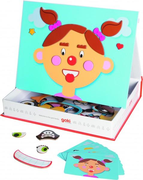 Magnetspiel Lustige Gesichter Mädchen