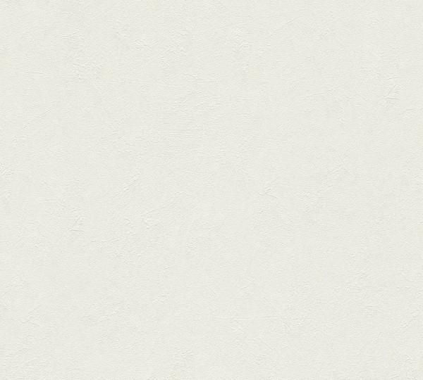 A.S. Création, Titanium, # 315311, Vliestapete, uni, Creme Weiß
