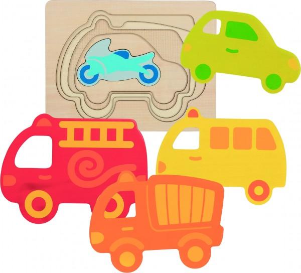 GOKI Schichtenpuzzle Fahrzeuge