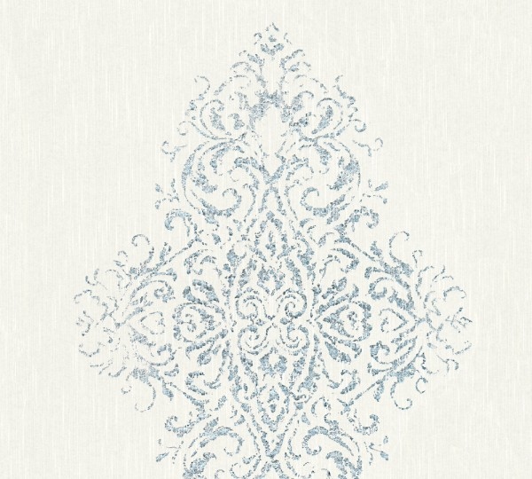 A.S. Création, Luxury wallpaper, # 319451, Vliestapete, Weiß Blau Metallic