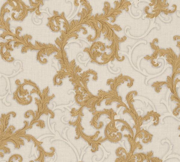 A.S. Création, Versace 2, # 962314, Vliestapete, Grau Metallic Weiß, 10,05 m x 0,70 m