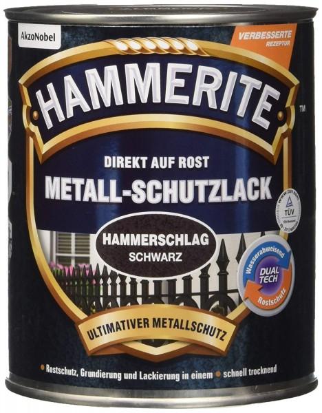 Akzo Nobel - Hammerite 750ml Hammerschlag, Effektlack, schwarz 750 ml