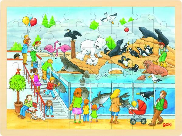 GOKI Einlegepuzzle Ausflug in den Zoo