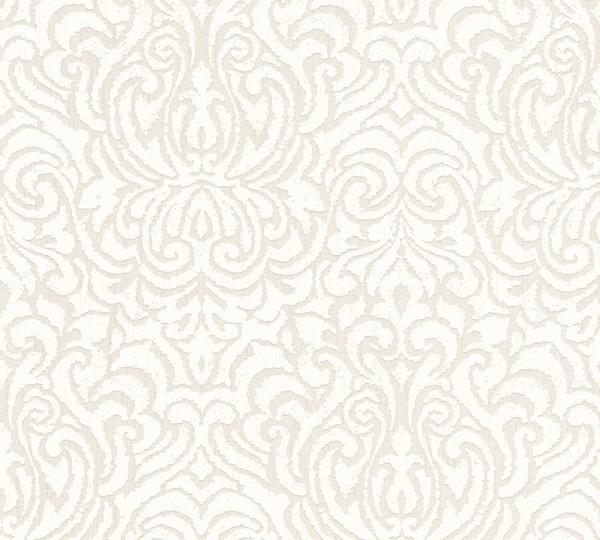A.S. Création, Tessuto 2, # 961935, Vliestapete, Creme Weiß